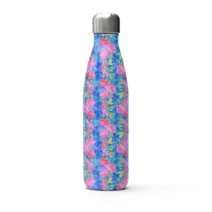 Stainless Steel Thermal Bottle Blue, Pink  Fuchsias  Magic