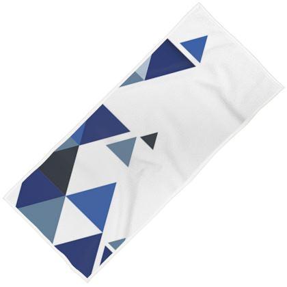 Towels - Geometric Triangles Blue