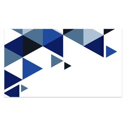 Sarong - Geometric Triangles Blue