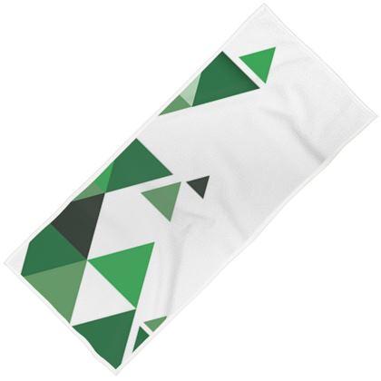 Towels - Geometric Triangles Green
