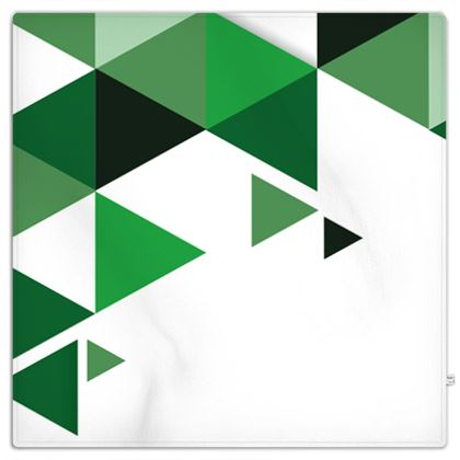 Picnic Blanket - Geometric Triangles Green