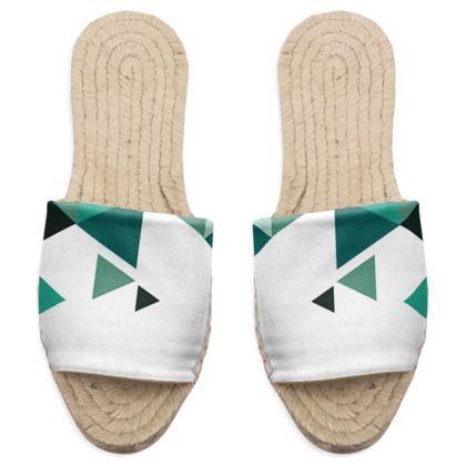 Sandal Espadrilles - Geometric Triangles Jade