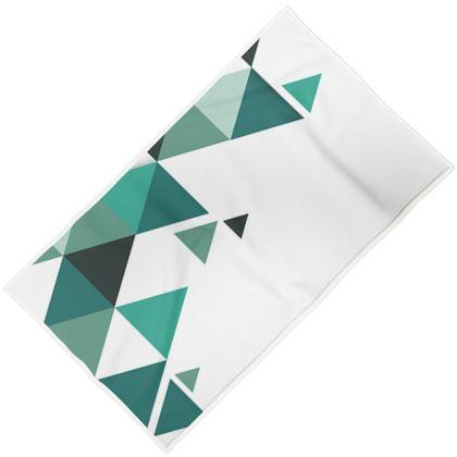 Towels - Geometric Triangles Jade