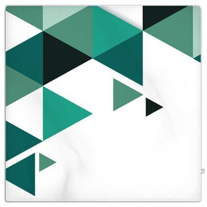 Picnic Blanket - Geometric Triangles Jade