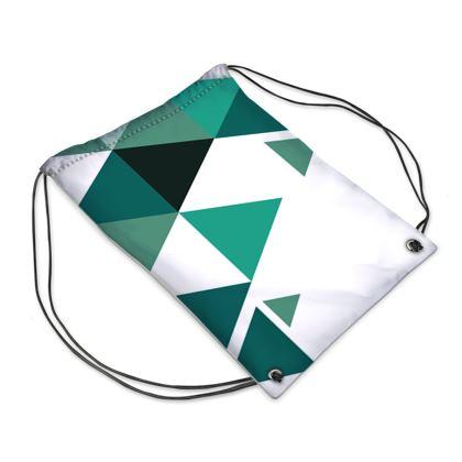 Swim Bag - Geometric Triangles Jade