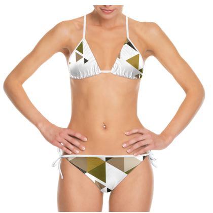 Bikini - Geometric Triangles Orange