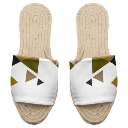 Sandal Espadrilles - Geometric Triangles Orange