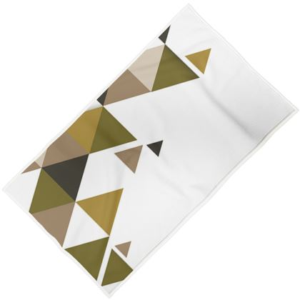 Towels - Geometric Triangles Orange