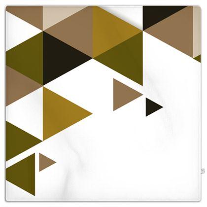 Picnic Blanket - Geometric Triangles Orange