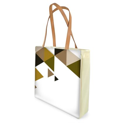 Beach Bag - Geometric Triangles Orange