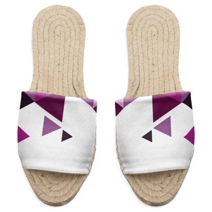Sandal Espadrilles - Geometric Triangles Pink