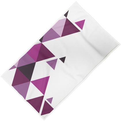 Towels - Geometric Triangles Pink