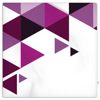 Picnic Blanket - Geometric Triangles Pink