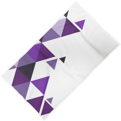 Towels - Geometric Triangles Purple