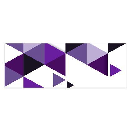 Sarong - Geometric Triangles Purple
