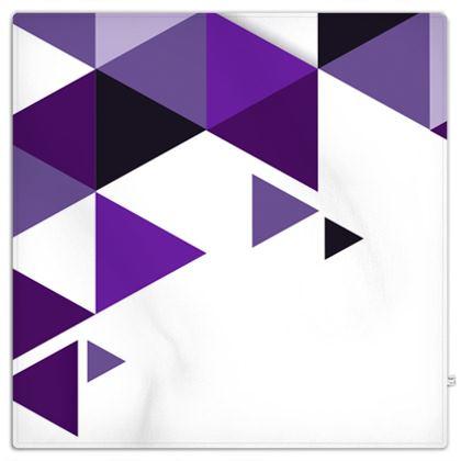Picnic Blanket - Geometric Triangles Purple