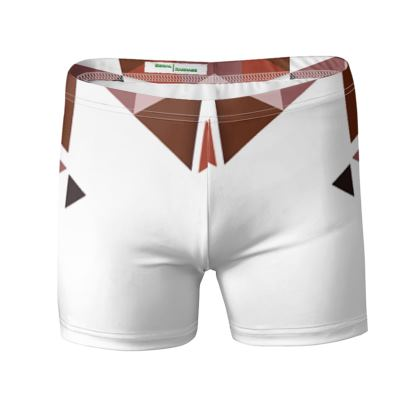 Swimming Trunks - Geometric Triangles Red