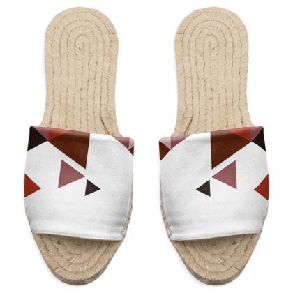 Sandal Espadrilles - Geometric Triangles Red