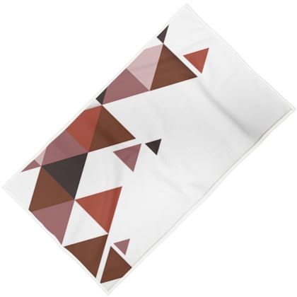 Towels - Geometric Triangles Red