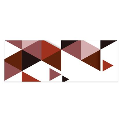 Sarong - Geometric Triangles Red
