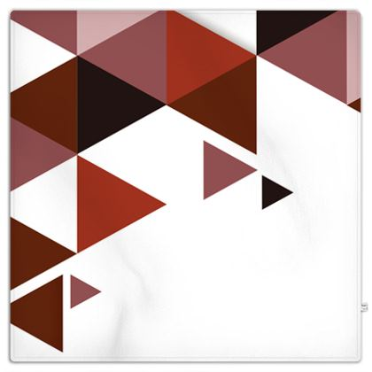 Picnic Blanket - Geometric Triangles Red