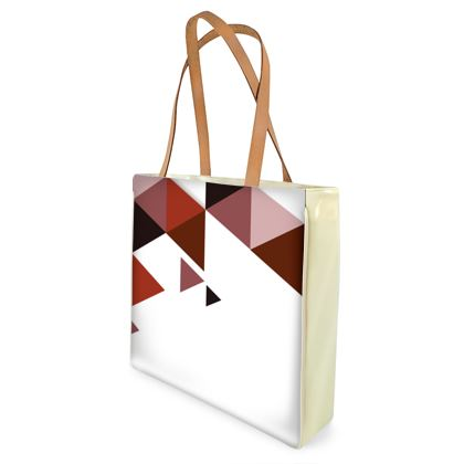 Beach Bag - Geometric Triangles Red - Geometric Triangles Red