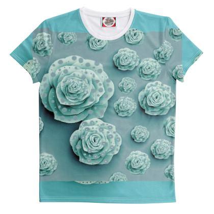 Maglietta con rose stampate linea bimbi sereni
