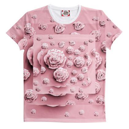 Maglietta con stampa fiorita linea bimbi sereni