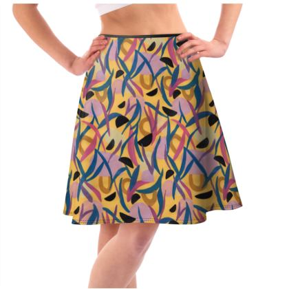 Pineapple Juice Flared Skirt