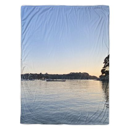 Sherpa Fleece Throw - Friday Evening at the Ferry Boat
