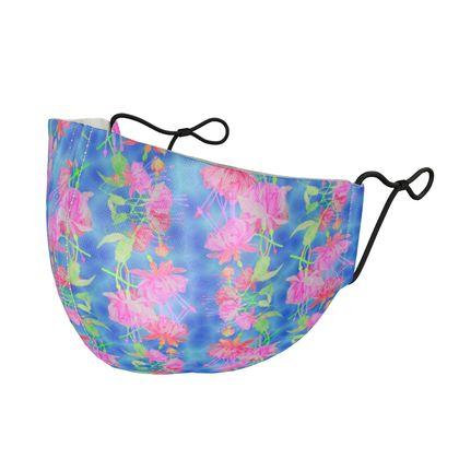 Silk Face Masks Blue, Pink, Floral  Fuchsias  Magic