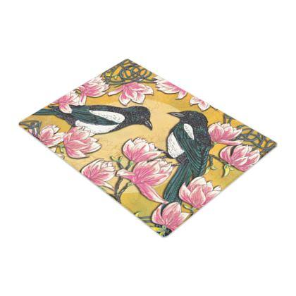 Magpies & Magnolias Chopping Board