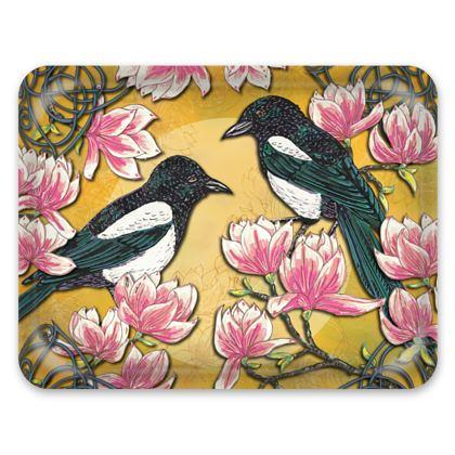 Magpies & Magnolias Tray