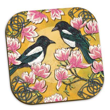 Magpies & Magnolias Coasters
