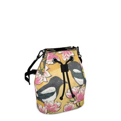 Magpies & Magnolias Bucket Bag