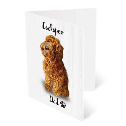 RED COCKAPOO FATHERS DAY CARD
