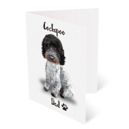 BLUE ROAN COCKAPOO FATHERS DAY CARD