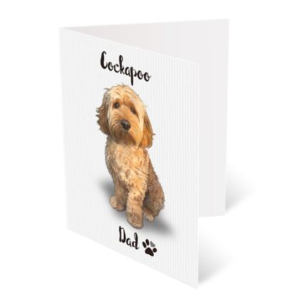 APRICOT COCKAPOO FATHERS DAY CARD