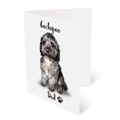BLUE MERLE COCKAPOO FATHERS DAY CARD