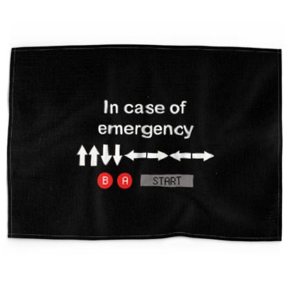 Tea Towels - In Case of Emergency - Use Cheat Code 2