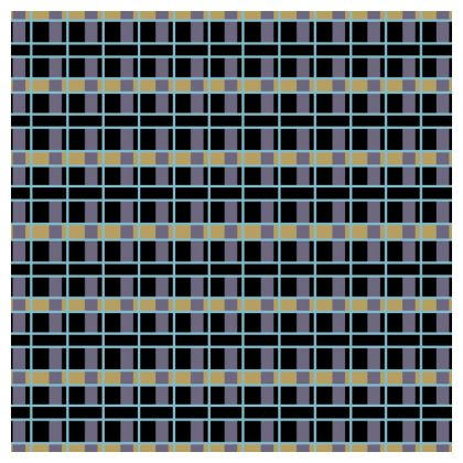 Art Deco Woven Pattern Inspired Coasters