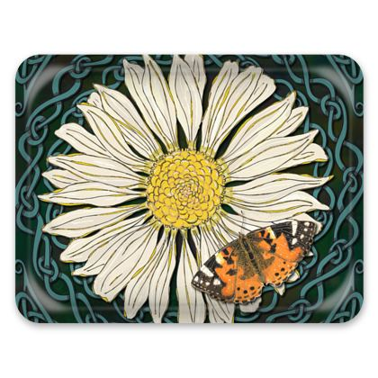 Daisy and Butterfly Tray