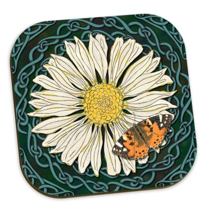 Daisy and Butterfly Coaster