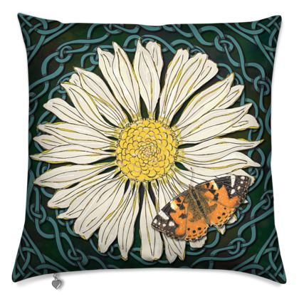 Daisy and Butterfly Cushion