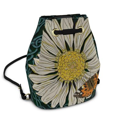Daisy and Butterfly Bucket Backpack
