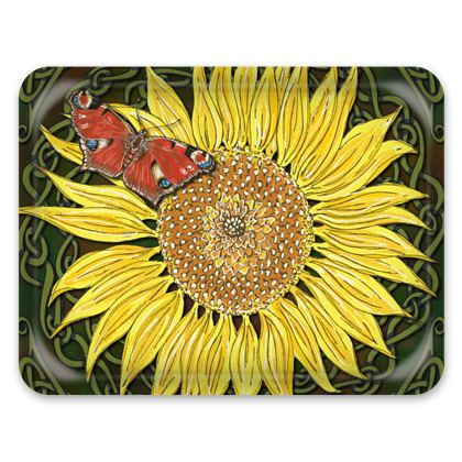 Sunflower and Butterfly Tray