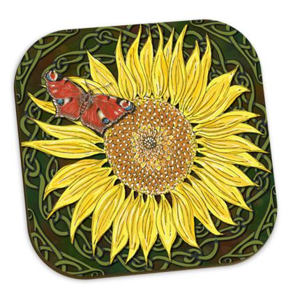 Sunflower and Butterfly Coasters