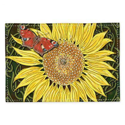 Sunflower and Butterfly Fabric Placemats
