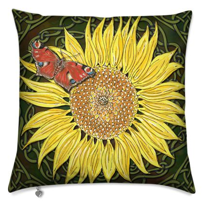 Sunflower and Butterfly Cushion