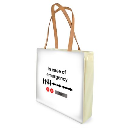 Beach Bag - In Case of Emergency - Use Cheat Code 2 (Black Text)